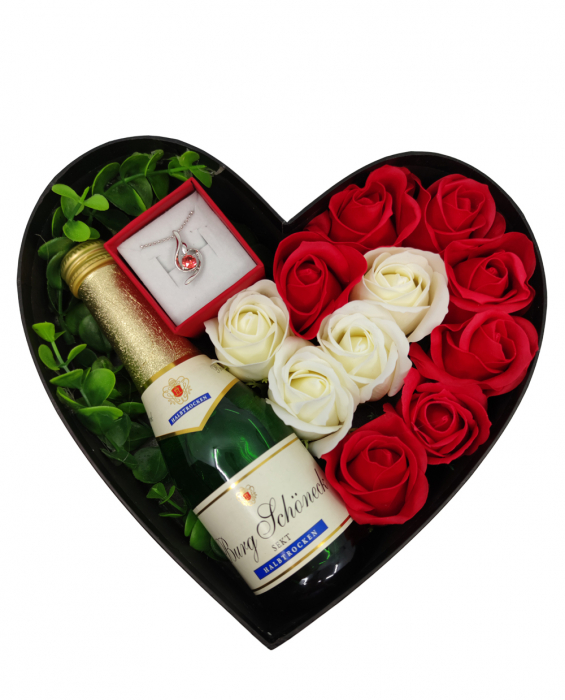 Aranjament floral cu 11 trandafiri din sapun SC-R113-SOFT R [0]