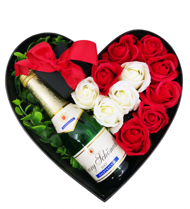 Aranjament floral cu 11 trandafiri din sapun SC-R113-SOFT R [1]