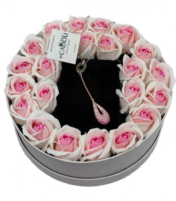 Aranjament floral cu 23 trandafiri din sapun AC-R152-M1 Luxury Love [0]