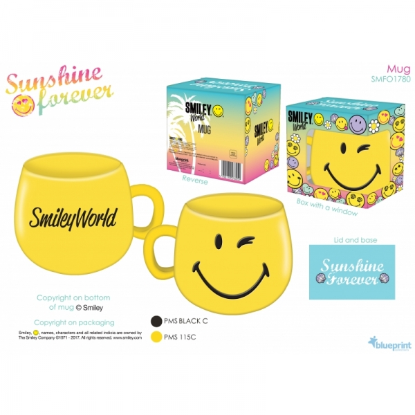 Cana Smiley Forever (breakfast ceramic cup) din portelan 1