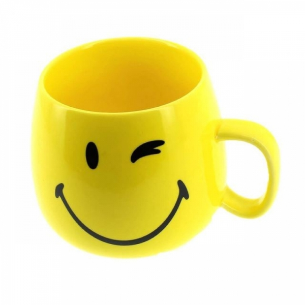 Cana Smiley Forever (breakfast ceramic cup) din portelan 0
