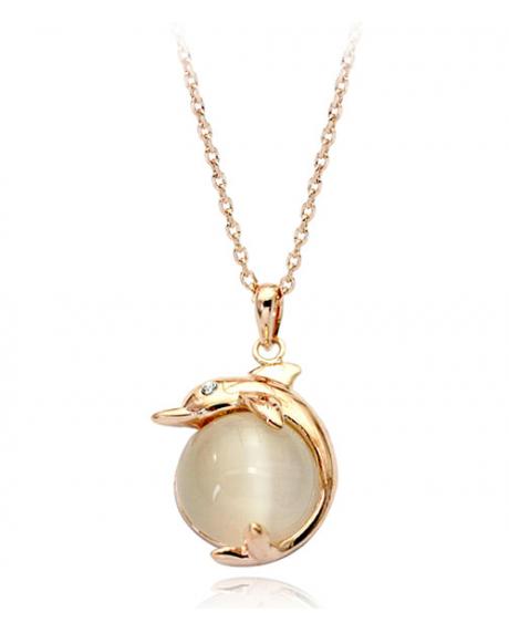 Colier cu cristale Gold Real Pearl  placat cu aur 18k si garantie 6 luni [0]