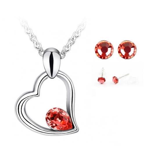 Colier EXPENSIVE HEART  rosu cu cristale [0]