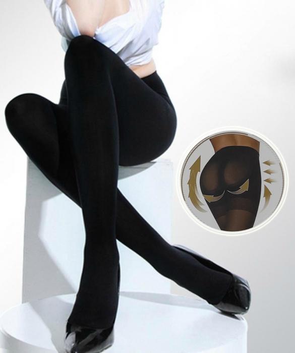 Dres dama bumbac XL-XXL, grosime 380DEN, culoare negru, NH930 [0]