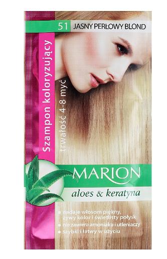 Șampon nuanțator pentru păr cu aloe Marion 51 Light Pearl [0]