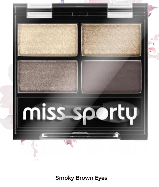 Fard de ochi Studio Color Quattro Eyeshadow Miss Sporty Smoky Brown Eyes 403 0