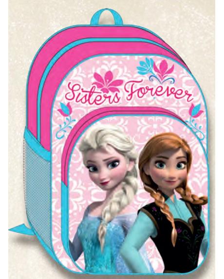 Ghiozdan copii scoala Disney Frozen Anna si Elsa 0