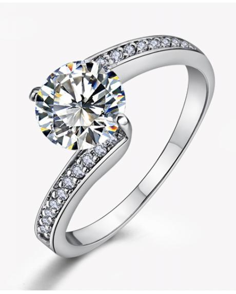 Inel Simple is the best diametru 18cm cu cristale Swarovski placat cu aur 18k 0