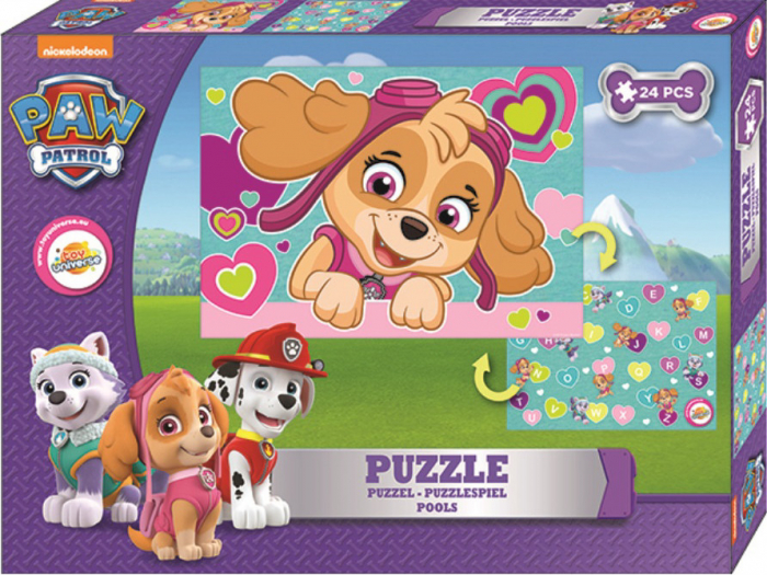 Paw Patrol Double Disney  - puzzle 24 piese 0