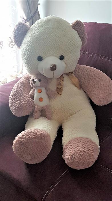 Jucarie de plus, Urs mare in 2 culori, cadoul ideal pentru cei mici si cei mari 0