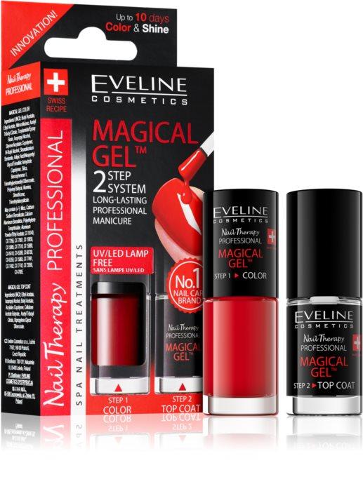Lac Unghii Cu Tratament + Top Coat, Magical Gel Eveline Cosmetics, Cod 01 [0]