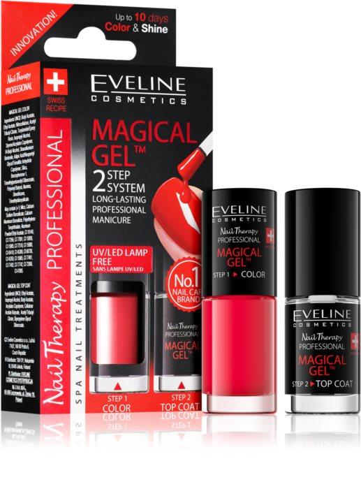 Lac Unghii Cu Tratament + Top Coat, Magical Gel Eveline Cosmetics, Cod 07  [0]