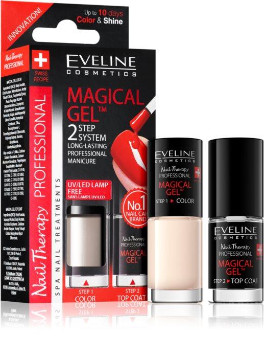 Lac Unghii Cu Tratament + Top Coat, Magical Gel Eveline Cosmetics, Cod 08 [0]