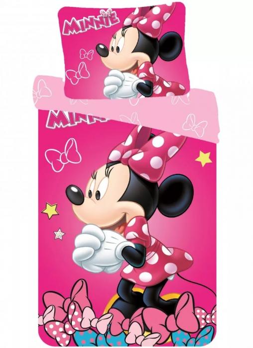 Lenjerie de pat fete Minnie Mouse140×200cm, 70×90 cm [0]