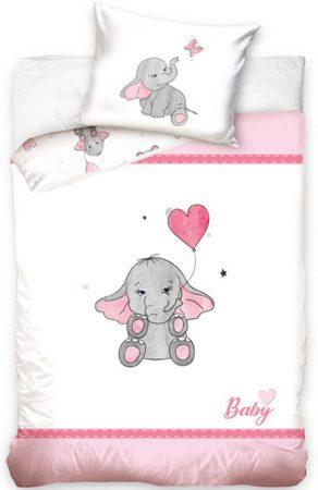 Lenjerie de pat licenta baby Elefant  roz 100×135 cm, 40×60 cm  CBX191015 [0]