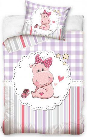 Lenjerie de pat licenta baby Hippopotamus 100×135 cm, 40×60 cm  CBX191002 0