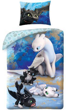 Lenjerie de pat licenta Disney Dragonii marime 140×200 cm, 70×90 cm HAX044738 0