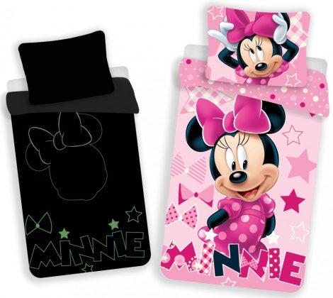 Lenjerie de pat licenta Disney Minnie Mouse( fosforescenta) marime 140×200 cm, 70×90 cm JFK019412 1