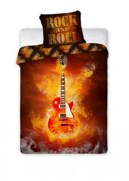 Lenjerie de pat licenta Rock and Roll marime 160x200cm 1persoana 0
