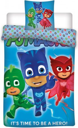 Lenjerie de pat licenta PJ Mask - Eroii in pijamale marime 140×200 cm, 70×90 cm  BRM001527 [0]
