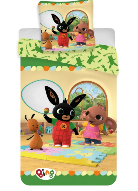 Lenjerie de pat pentru copii Bing  140×200 cm, 70×90 cm [0]
