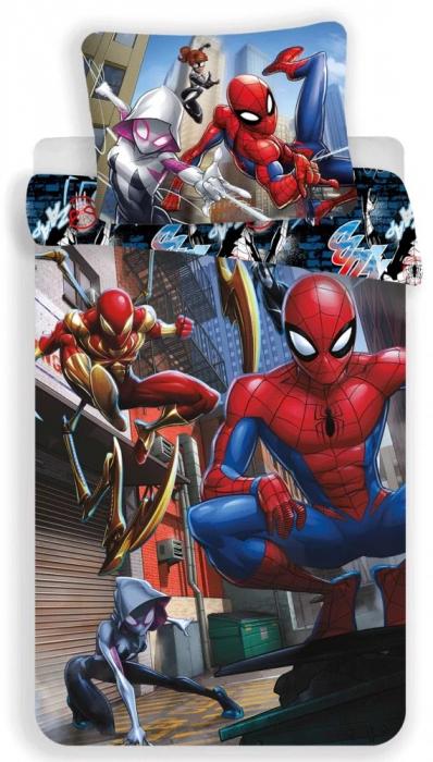 Lenjerie de pat pentru copii Spiderman 140×200cm, 70×90 cm [0]