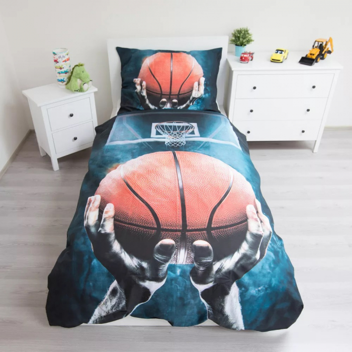 Lenjerie de pat pentru copii Basketball 140×200cm, 70×90 cm 1