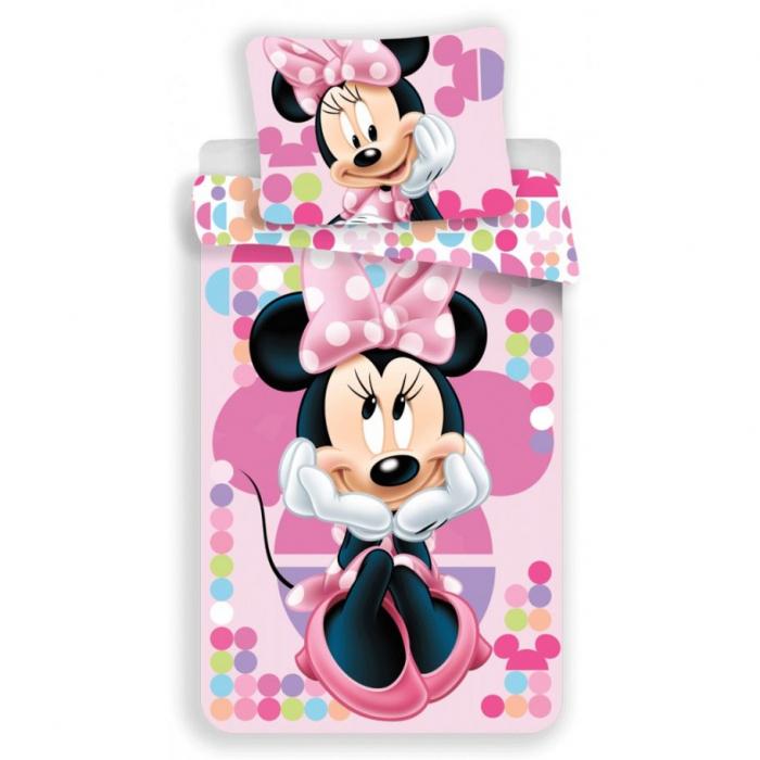 Lenjerie de pat pentru copii  Disney Minnie 140×200 cm, 70×90 cm, poliester [0]