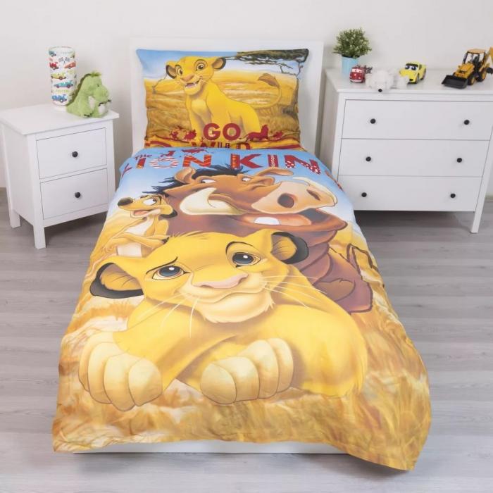 Lenjerie de pat pentru copii Regele Leu 140×200cm, 70×90 cm [1]