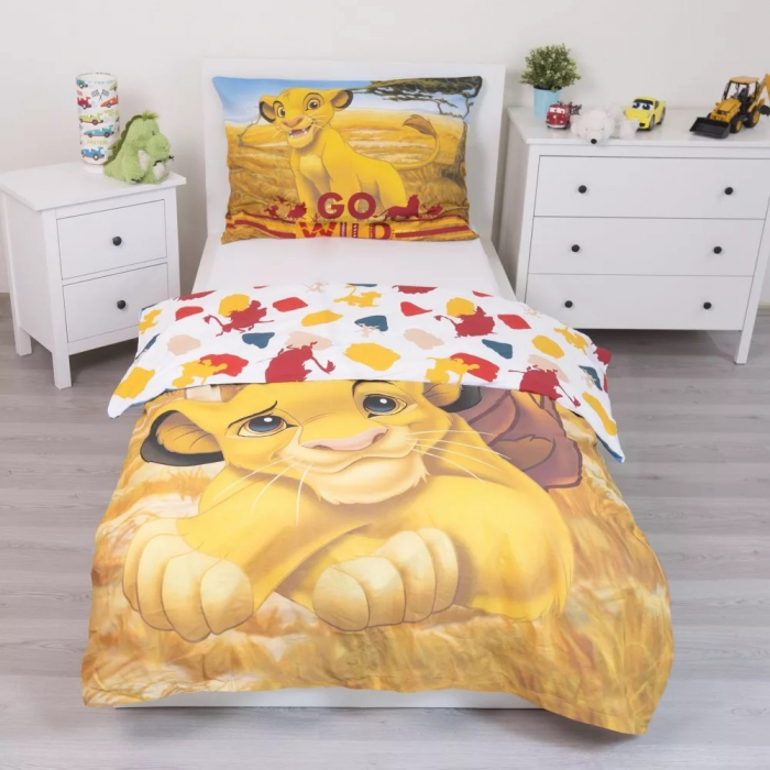 Lenjerie de pat pentru copii Regele Leu 140×200cm, 70×90 cm [2]