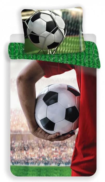 Lenjerie de pat pentru copii Fotbal 140×200cm, 70×90 cm 0