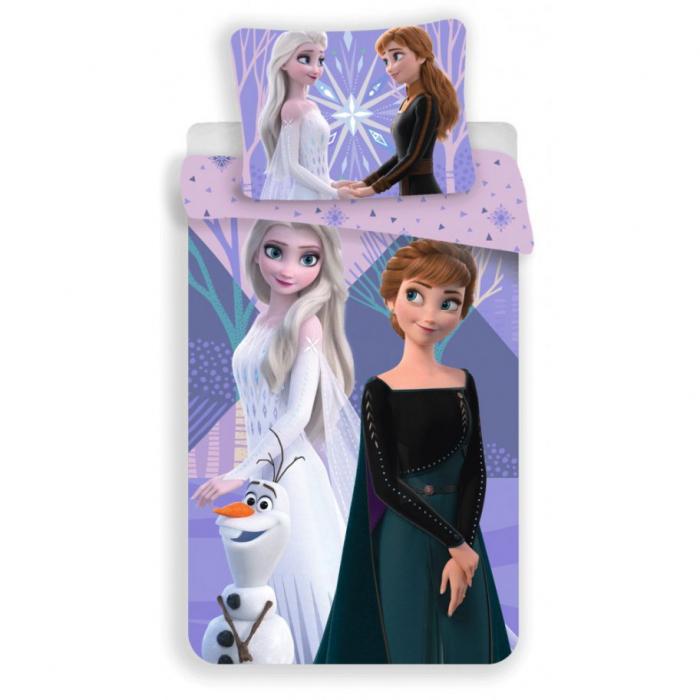 Lenjerie de pat pentru copii Frozen 140×200 cm, 70×90 cm, Disney, 100% bumbac [0]