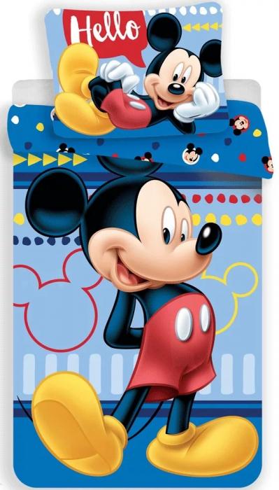 Lenjerie de pat pentru copii Mickey Mouse 140×200cm, 70×90 cm 0