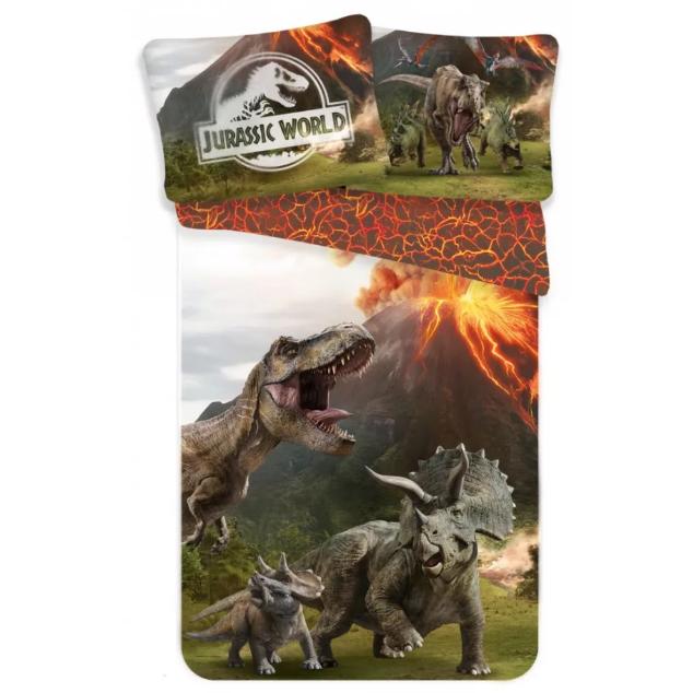 Lenjerie de pat pentru copii Jurassic Parc  140×200cm, 70×90 cm [0]