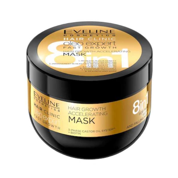 Masca par Eveline Hair Clinic Oleo Expert Fast Growth 8in1 500 ml - BIG SIZE [0]