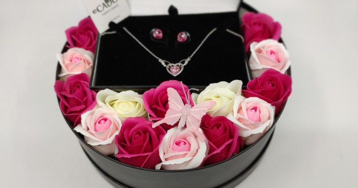 Pachet cadou cu 15 trandafiri din sapun AC-R154-M2 Luxury Love [2]
