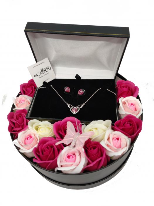 Pachet cadou cu 15 trandafiri din sapun AC-R154-M2 Luxury Love [1]
