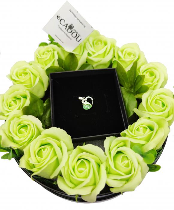 Pachet cadou cu 17 mix flori din sapun AC-R168-M3 Fantastic Heart verde [0]