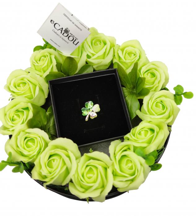Pachet cadou cu 17 mix flori din sapun AC-R170-M3 SweetLeaf verde [1]