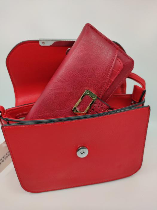 Pachet Promo Geanta casual F9750 si portofel din piele ecologica A151R [3]