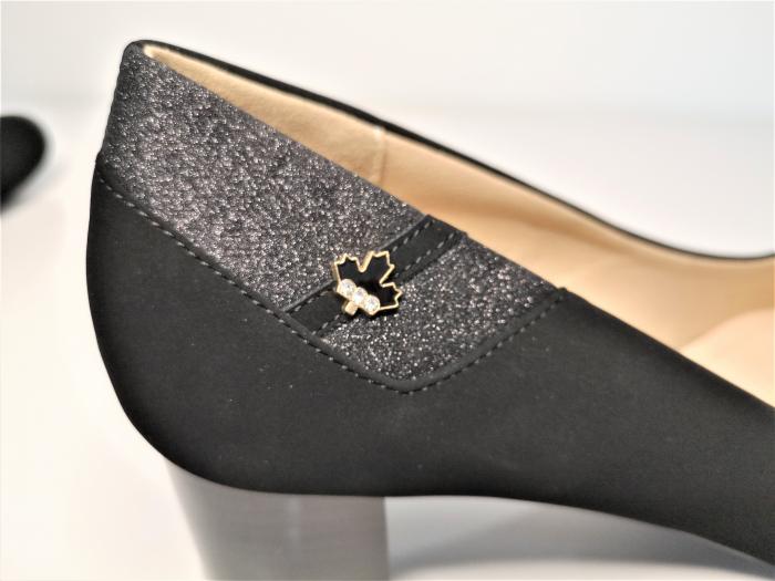 Pantofi eleganti negri  cu toc comod YE5212-2N 2