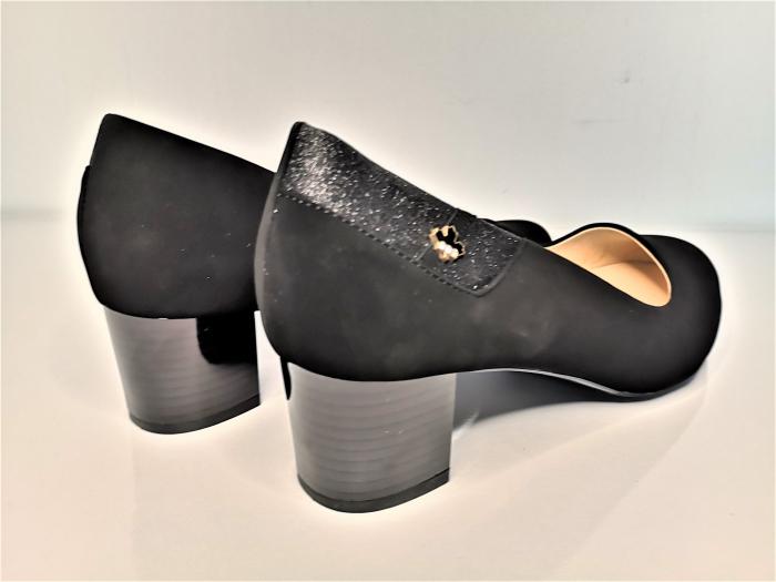 Pantofi eleganti negri  cu toc comod YE5212-2N 1