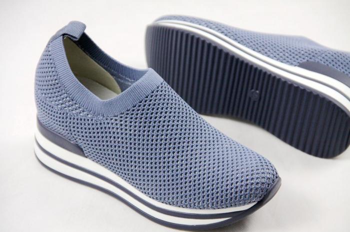 Pantofi sport de dama  albastri cu platforma H0112 4