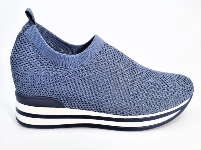 Pantofi sport de dama  albastri cu platforma H0112 0