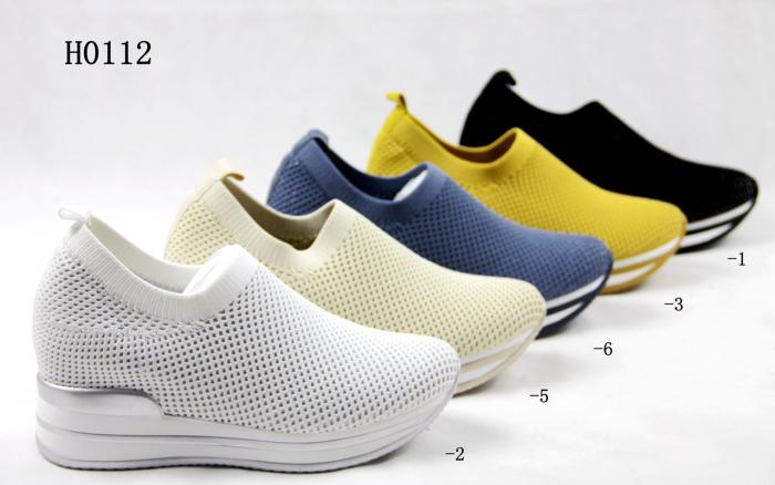Pantofi sport de dama  albastri cu platforma H0112 3