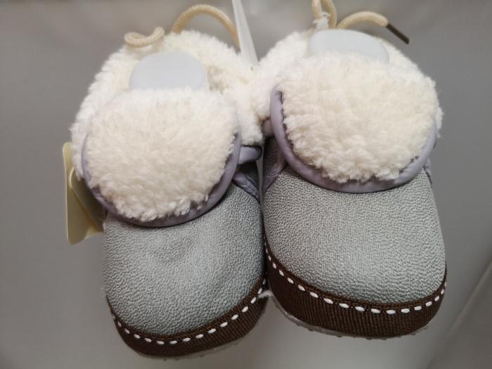 Papucei Baby de casa cu blanita, gri, marimi 12-18 0