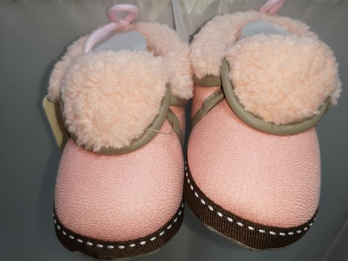Papucei Baby de casa cu blanita, roz, marimi 12-18 0