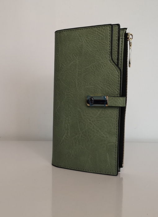 Portofel de dama din piele ecologica AB2022L Verde 0