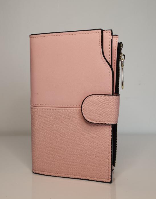 Portofel de dama din piele ecologica AB2035M pink 0