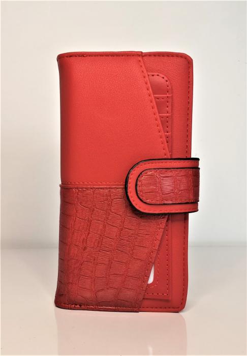 Portofel de dama din piele ecologica AB601L rosu [0]